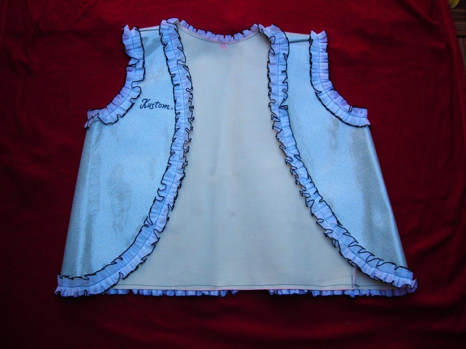 Kustom Guitar Trade Show Vest White (M) Vintage Circa 1969 NAAM Show Excellent!