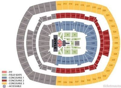 2 Tickets Justin Bieber 8/23/17 MetLife Stadium - VIP Floor Seats