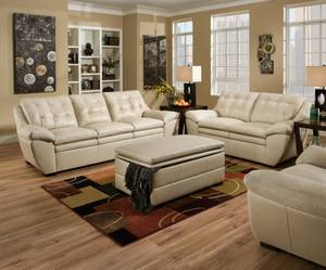 Black leather sectional sofa (Design it for FREE!! Any color & Any fab)