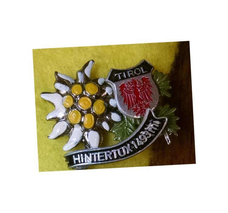 Hiking climbing mountaineering Alpinism TIROL HINTERTUX 1493METERS pin badge