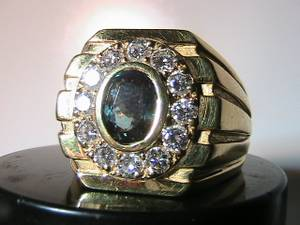 Alexandrite-2-0-Ct-Gold-Ring-with-Diamonds (Conestoga, PA)