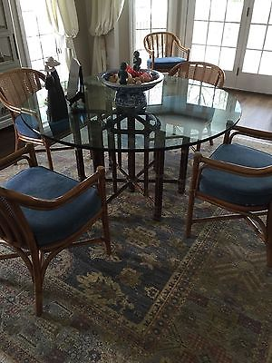 McGuire Dining Table and 6 Chairs