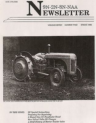 Ford 9N 2N Newsletter, instructions steel wheel tractor