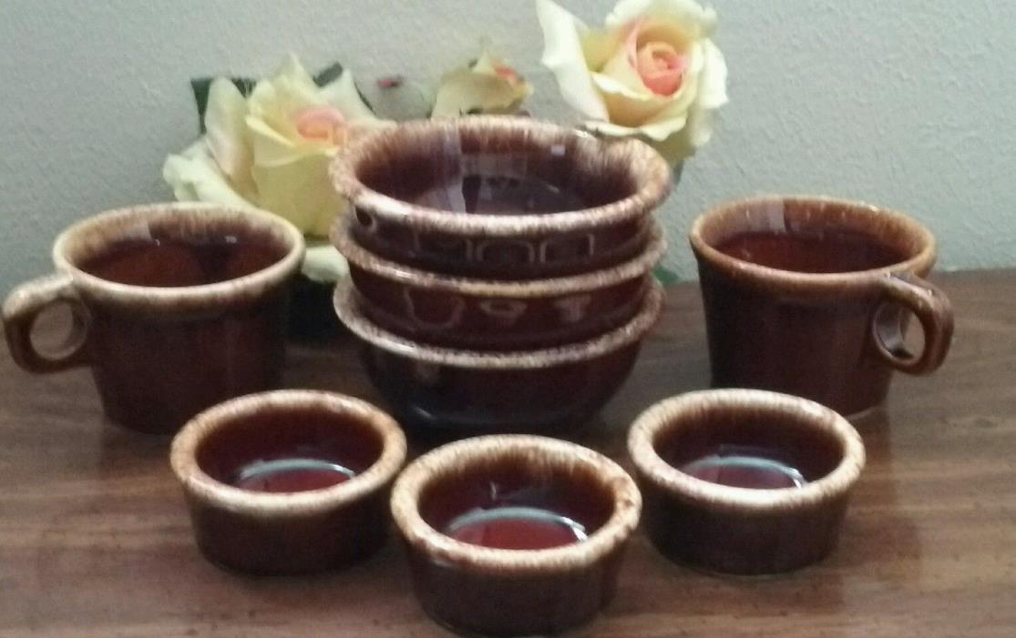 Hull Crestone Pottery Mugs & Bowls Brown Drip