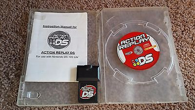 Action Replay DS. Cartridge, CD and Instruction Booklet. Free shipping.