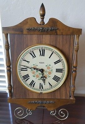 Vintage Verichron Wood Wall Clock