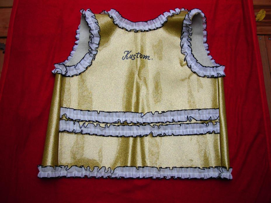 Kustom Guitar Trade Show Vest Gold (G) Vintage Circa 1969 NAAM Show Excellent!