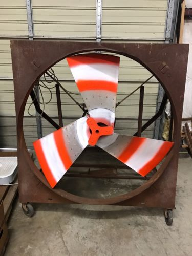 Antique Industrial Steampunk Propellor Fan Must See  54 Inch Blade Herman Nelson