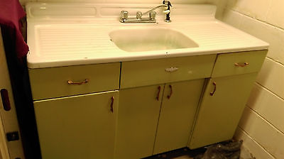 Vintage Youngstown By Mullins Kitchen Sink w Metal Kitchen Cabinets