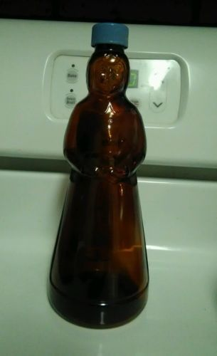 Vintage Mrs. Butterworth Brown Glass Bottle
