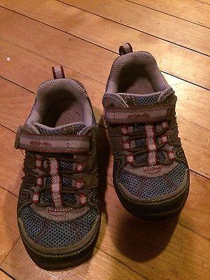 Stride Rite Jasper Sneaker - size 8.5W Baby Boys Toddler shoes Gray Blue Velcro