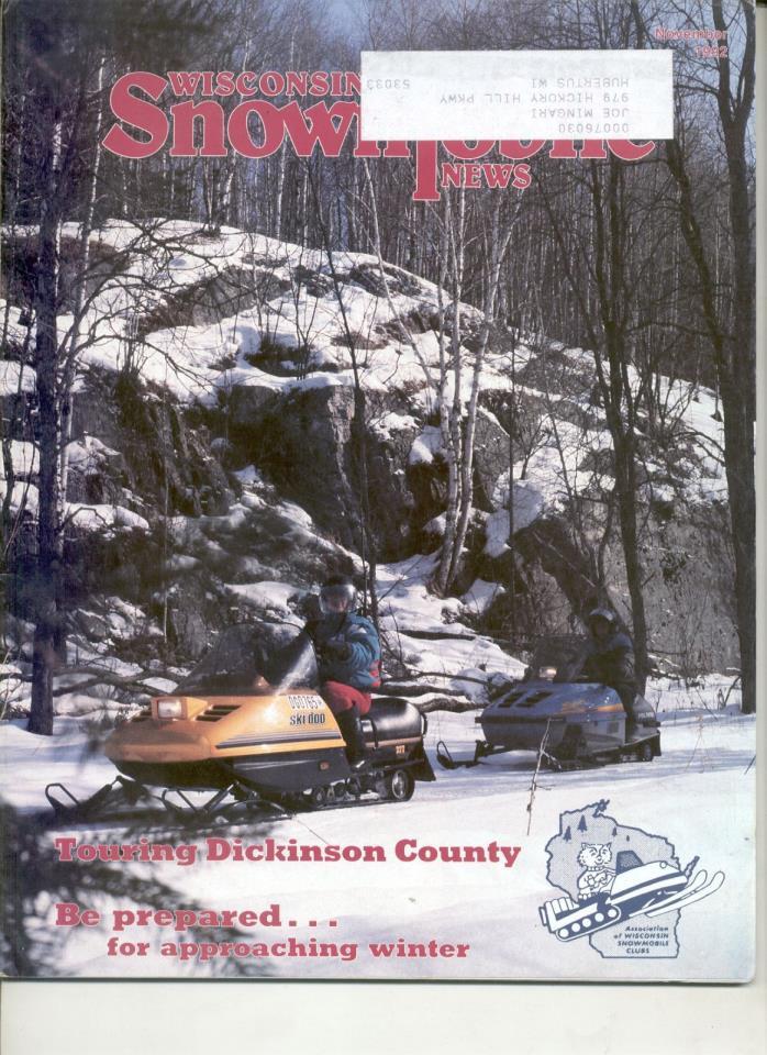 Vintage 1992 SNOWMOBILE MAGAZINE 1993 Ski-Doo Citation SS MX Polaris Indy Sport