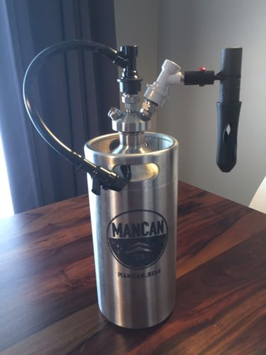 ManCan 128oz (one gallon) draft beer system
