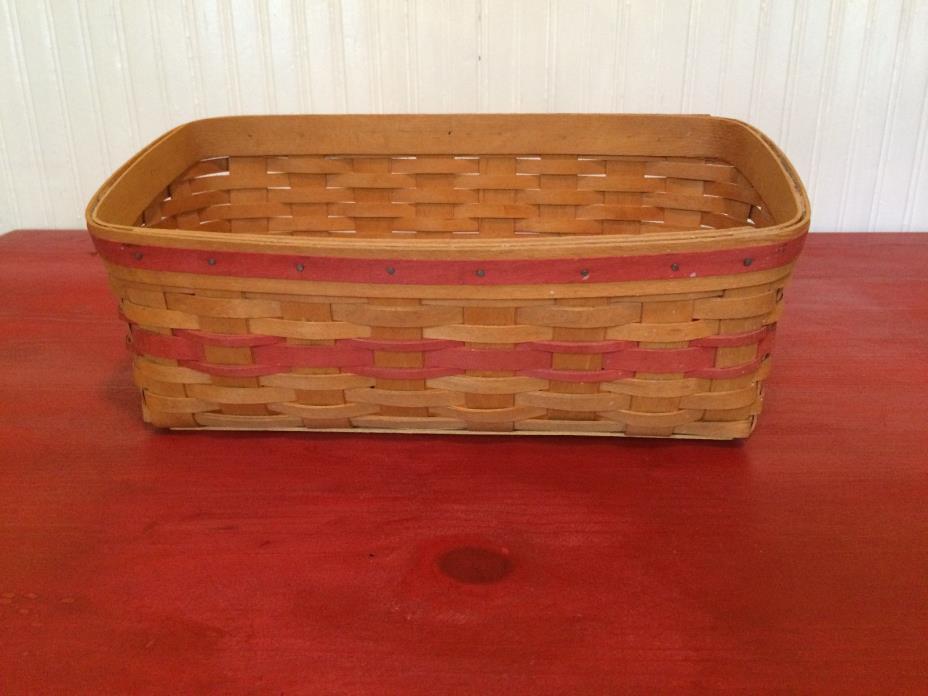 1996 Longaberger Rectangular Planters Basket
