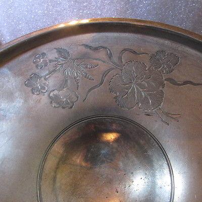 Pairpoint Brides Basket Quadruple Plate
