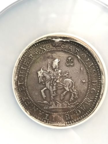 1642 England Pound S-2918 Shrewsbury NGC VF 35 Charles I