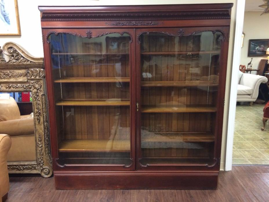 Antique Mahogany Bookcase at The Raleigh Furniture Gallery