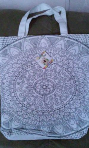 Color Your Own Mandala Canvas Tote Bag