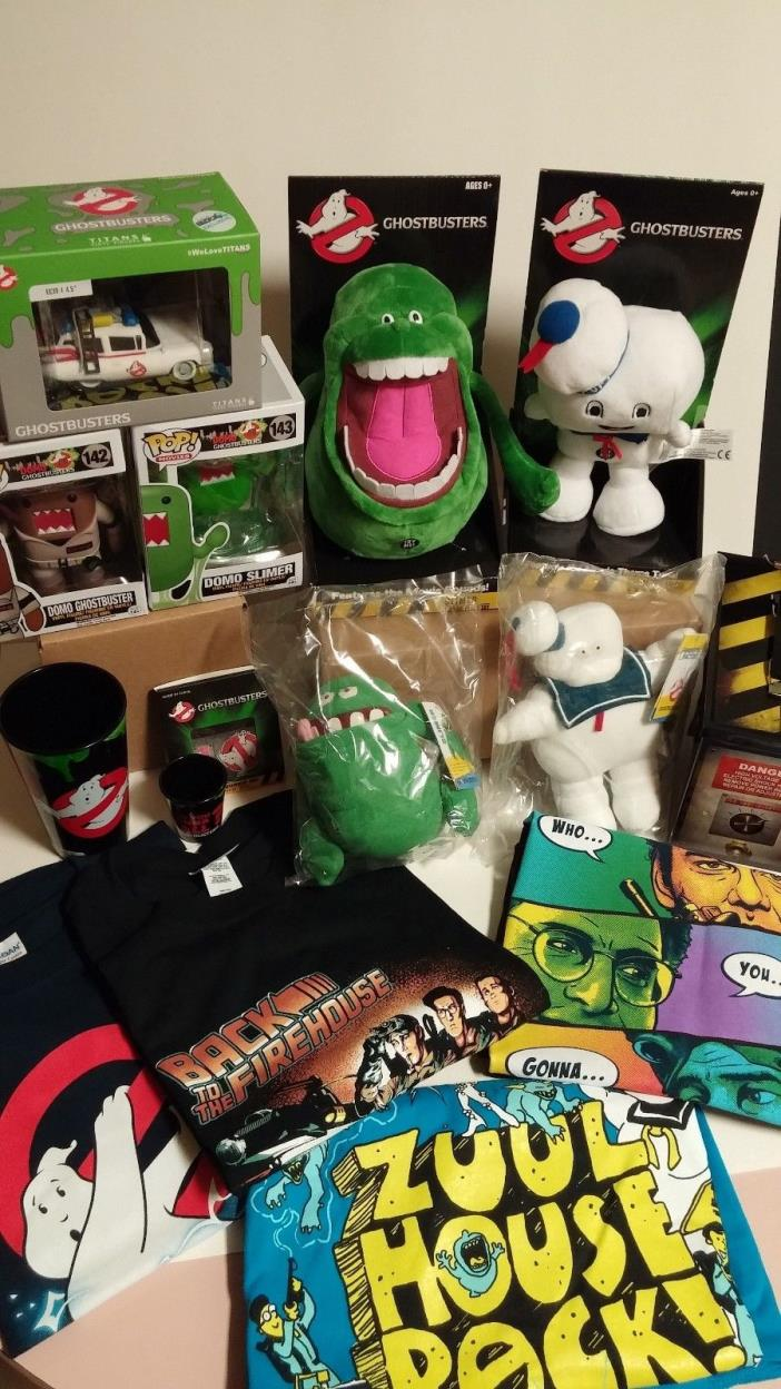 Ultimate Ghostbusters Bundle! Ghost Trap, Electronic Talking Slimer & Stay Puft