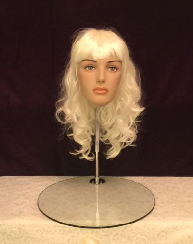 Fiberglass Female Mannequin Egg Head Wig For Retail Business Display XRW-224