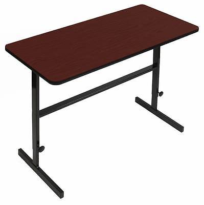 Adjustable Standing Height Work Station in Cherry Finish [ID 3409010]
