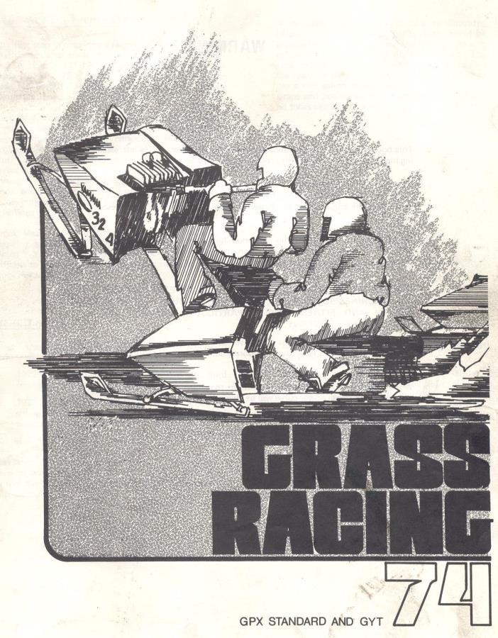 Vintage 1974 YAMAHA Snowmobile GRASS DRAG RACE MANUAL GYT GPX 338 433 srx sr ssr