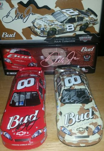 Dale Earnhardt jr. Signed diecast cars