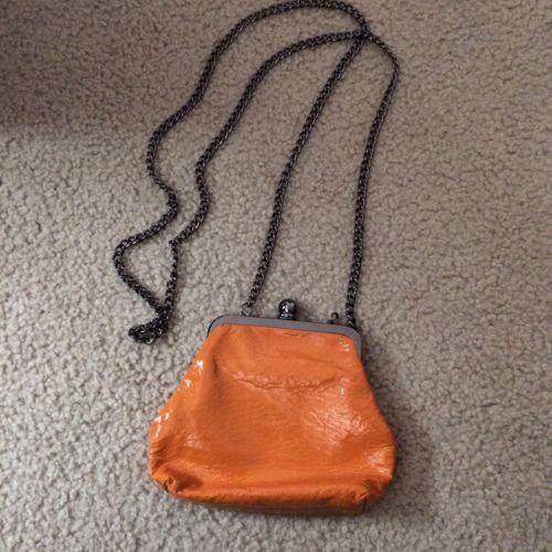 HOBO Handbags Chain Strap Crossbody Purse Clutch in Saffron Yellow-orange