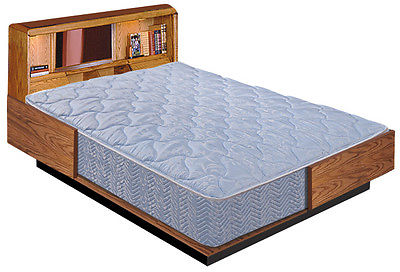CAL KING HARDSIDE SMOOTH WATERBED COVER / 60% WAVELESS MATTRESS / HEATER / LINER