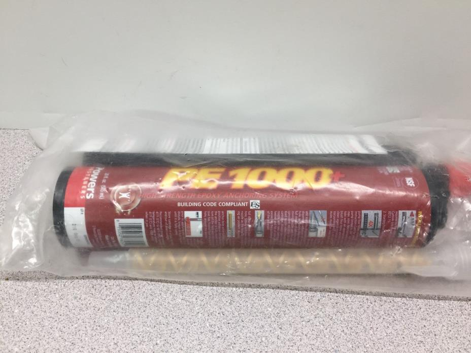 Lot of 2 Powers Fastener PE1000+ High Strength Epoxy With Applicator 20oz(D-39)