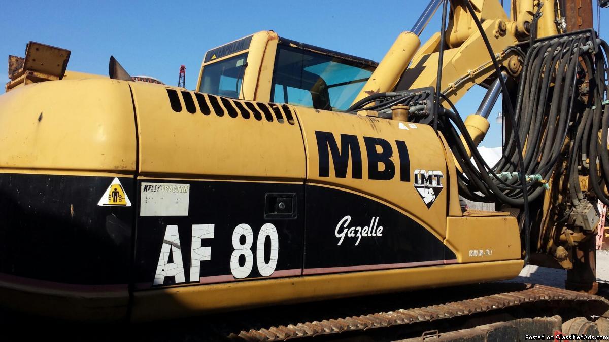 IMT AF80 2003 Drill Rig w Rock/Dirt Augers, Core Barrels & Kelly Bar Drive...