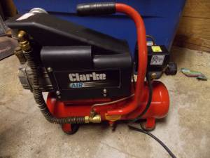 Air compressors, Propane heater, Welding equip, Sander, Riding mower (Red Cloud)