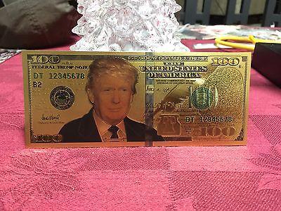 10 Donald Trump Gold Collector USA $100 Dollar Bills