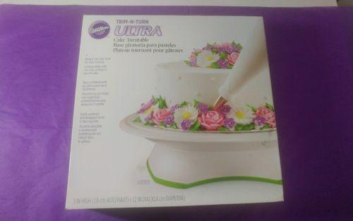 wilton trim-n-turn ultra cake turntable in box