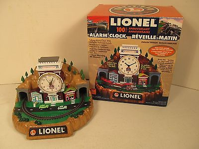 Lionel Alarm Clock Train Lionelville 100th Anniversary Talking Battery Operated
