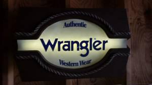 Vintage Wrangler Sign