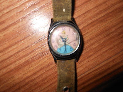 VINTAGE CINDERELLA WATCH ~ ORIGINAL ~ NOT WORKING ~ AS IS ~ 1950's