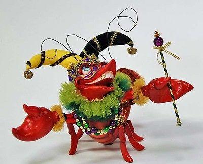 Katherine's Collection  Jester Crawfish Mardi Gras Retired Spring Lobster Kleski