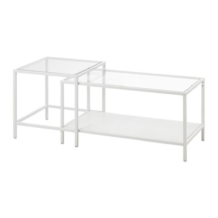 Coffee table from IKEA - VITTSJO white