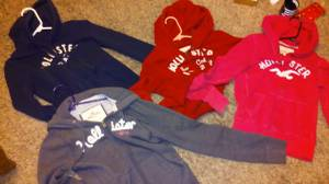4 Hollister Hoodies /Sweatshirts (2-Small / 2 -XS)