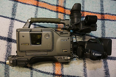 Sony DSR-500WS DVCAM Camcorder w/ Canon YJ18x9B4  KRS SX12 Viewfinder dxf 701ws
