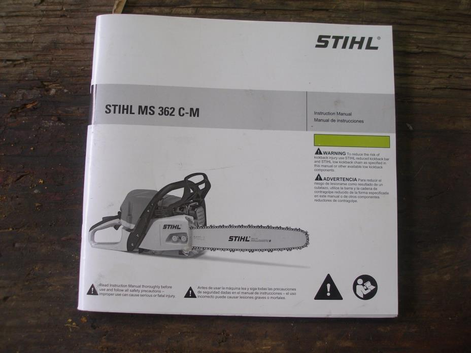 OEM OWNERS INSTRUCTION MANUAL STIHL MS 362 CM  CHAINSAW