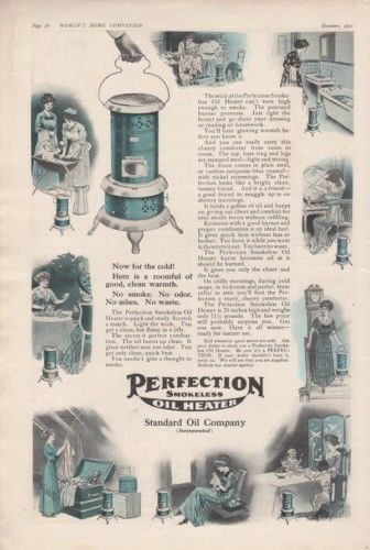 1911 STANDARD OIL PERFECTION HEATER HOME APPLIANCE BATH10115