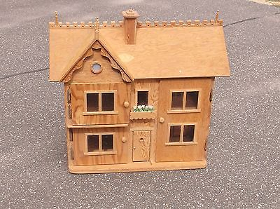 Estate Find Huge Vintage Victorian Handmade Doll House Folk Art Wood 38
