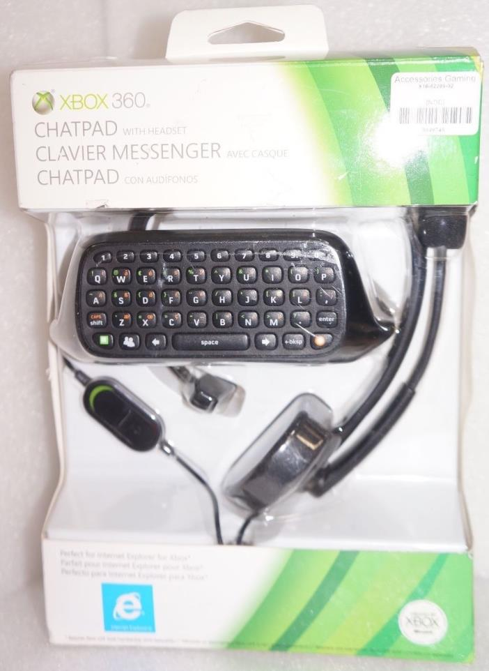 Microsoft Xbox 360 Chatpad and Headset (48401).