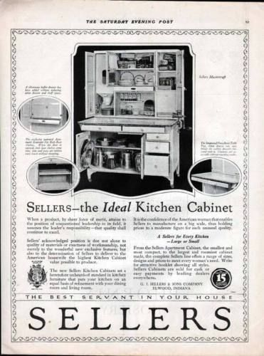 1920 SELLERS KITCHEN CABINET FURNITURE MASTERCRAFT HOME7234