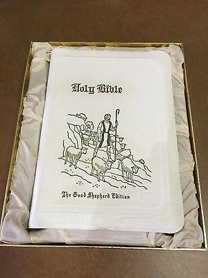 White Leather Bound Holy Bible