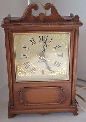 Vintage General Electric Shelf Table Mantle Clock Works