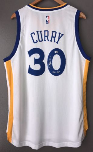 Stephen Curry Autographed Warriors