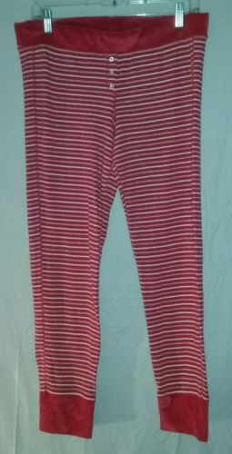 Victorias Secret Womens Thermal Pajama Bottoms Size Large PJ Pants
